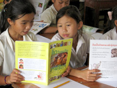 A mini-library will help rural children like these have access to books