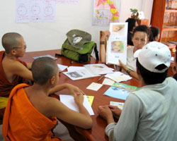 English practice with Lao young people