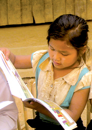 Big Brother Mouse has provided thousands of Lao children with their very first book.